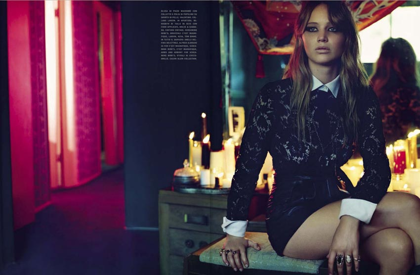 Jennifer Lawrence by Mark Selinger Vogue Italy