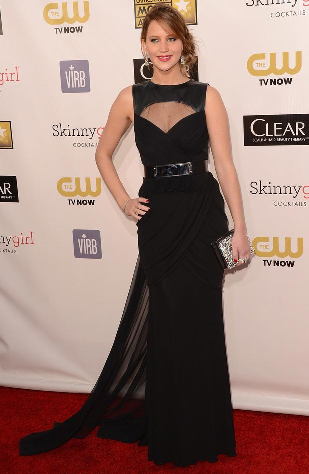 Jennifer Lawrence Critics Choice Awards 2013 red carpet
