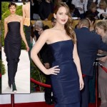 Jennifer Lawrence Dior Couture blue dress 2013 SAG Awards