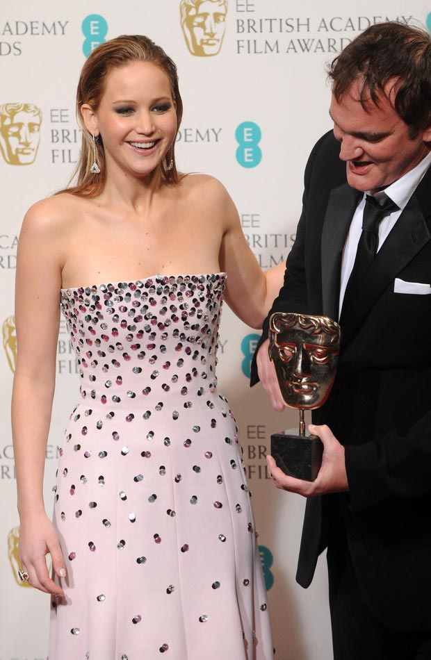 Jennifer Lawrence Dior Soft Pink Dress 2013 BAFTA Awards