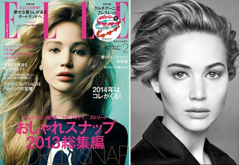 Jennifer Lawrence Dior Elle Japan