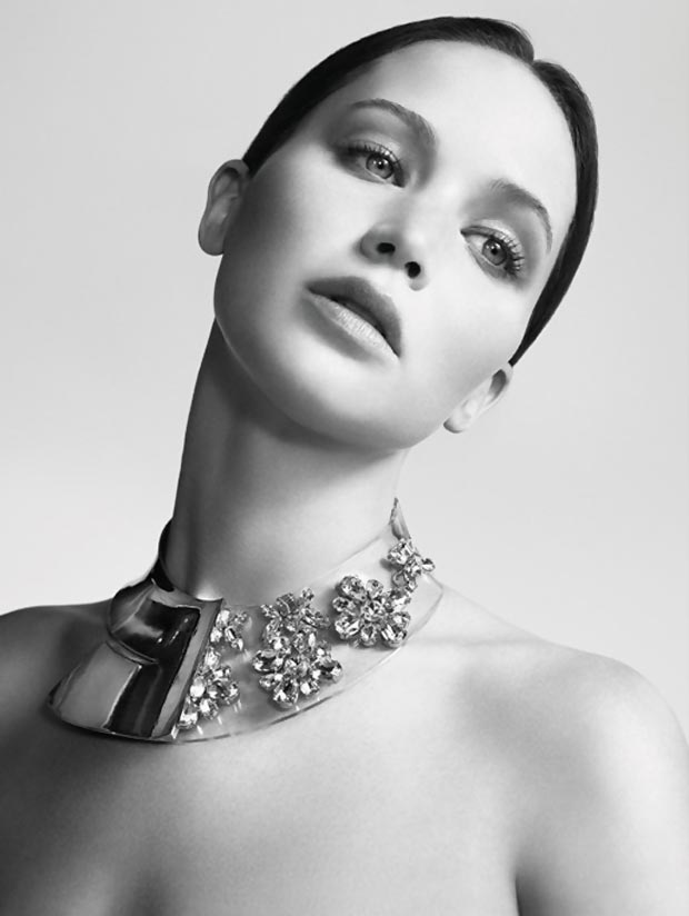 Jennifer Lawrence Dior Necklace 2013 ad campaign