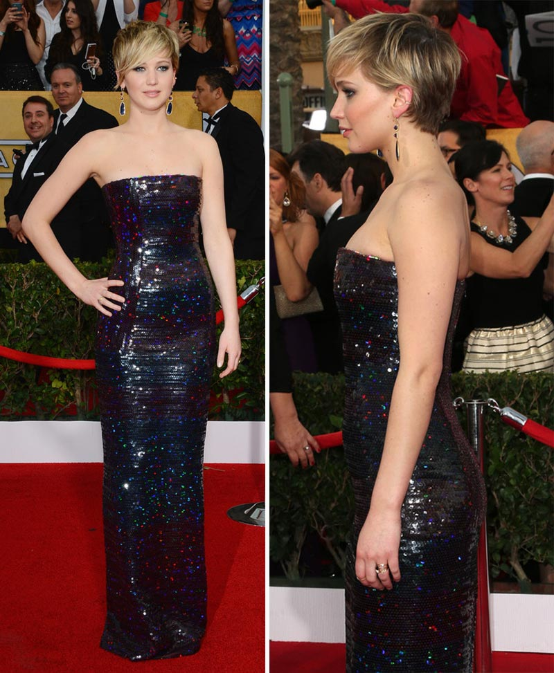 Jennifer Lawrence dress 2014 SAG Awards Red Carpet