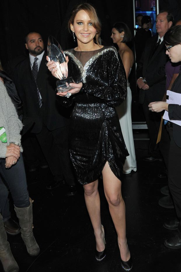 Jennifer Lawrence People s Choice Awards 2013 backstage