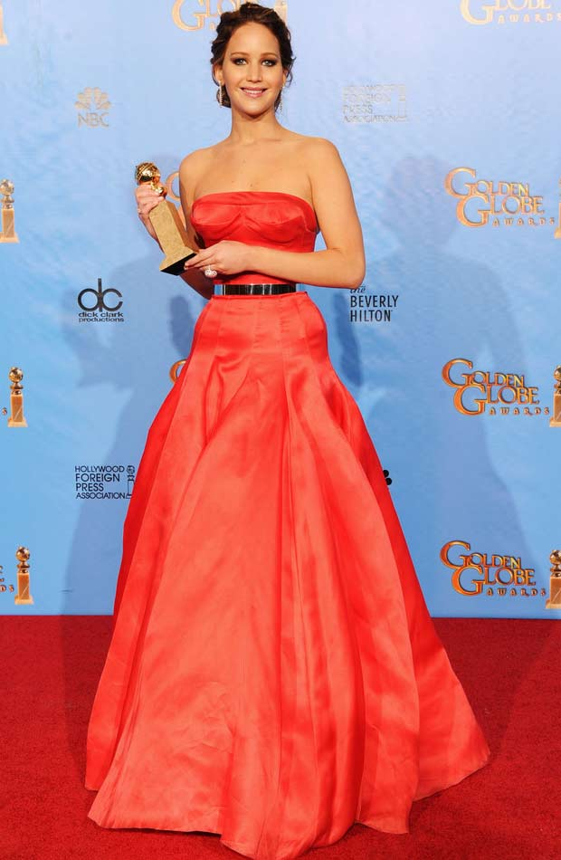 Jennifer Lawrence winner 2013 Golden Globes