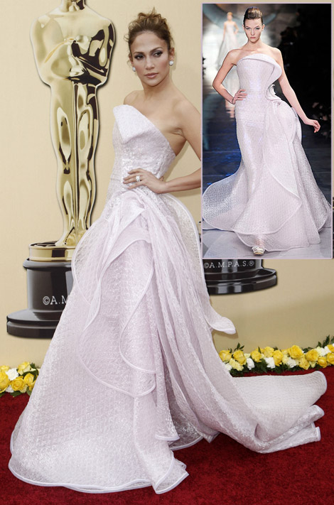 Jennifer Lopez Armani prive Dress 2010 Oscars