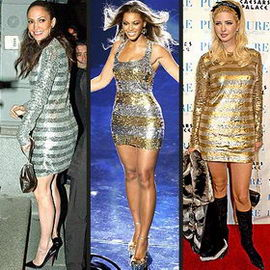 Jennifer Lopez Beyonce Ivanka Trump Metallic Dress