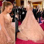 Jennifer Lopez Elie Saab dress Oscars 2015