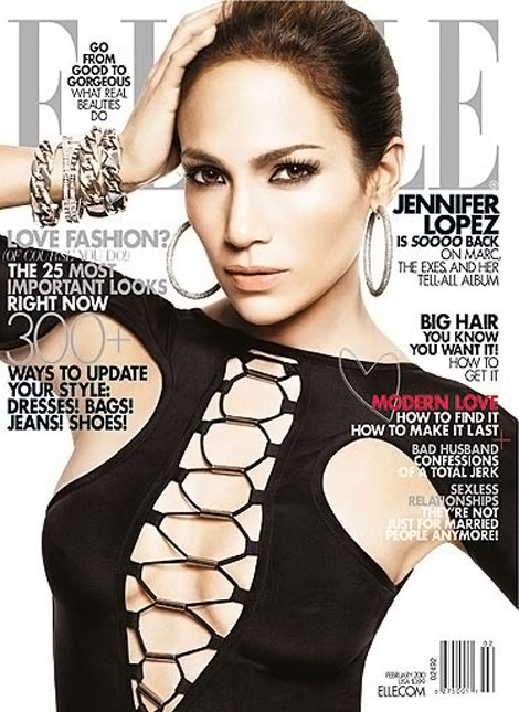 Jennifer Lopez Elle February 2010 cover
