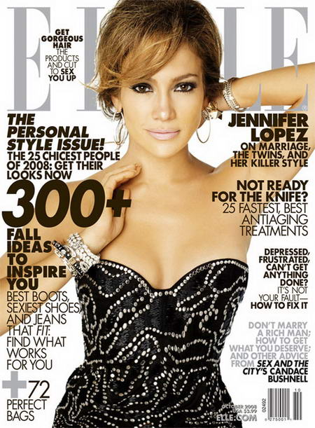 Jennifer Lopez Does Elle US October 2008