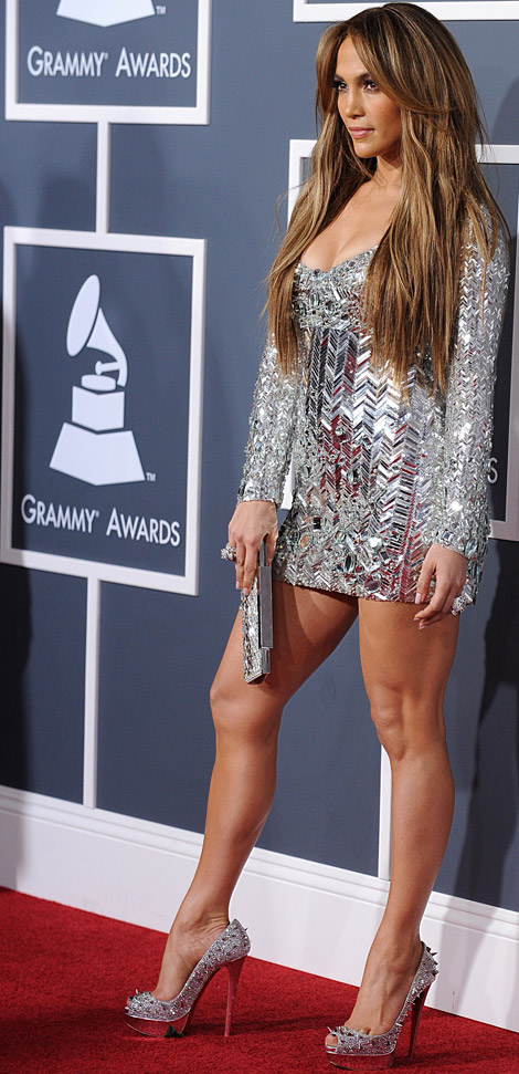 Jennifer Lopez Emilio Pucci dress 2011 Grammy Awards
