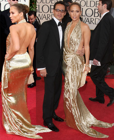 Jennifer Lopez Golden Globe awards 2009 Marchesa dress
