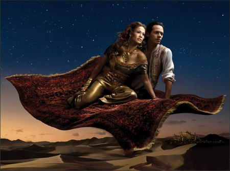 Jennifer Lopez and Marc Anthony Disney Jasmine and Alladin by Annie Leibovitz