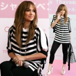 Jennifer Lopez Samantha Thavasa Japan launch