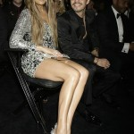 Jennifer Lopez silver dress 2011 Grammy Awards husband Marc Anthony 2