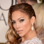 Jennifer Lopez hair makeup 2013 Golden Globes