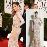 Jennifer Lopez Zuhair Murad lace dress 2013 Golden Globes
