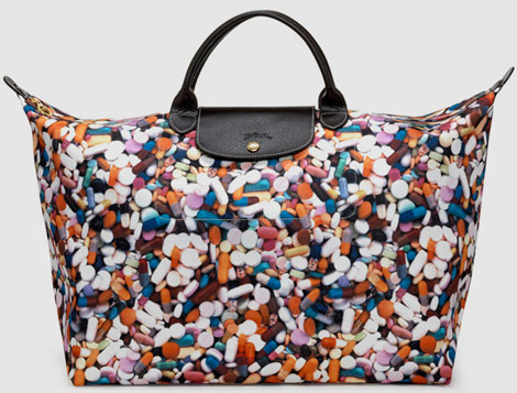 Jeremy Scott Longchamp Pliage Pills Bag