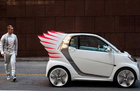 Jeremy Scott's Winged Car: Smart ForJeremy