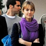 Jessica Alba Blue Chanel Bag