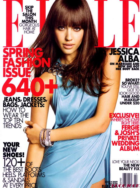 Jessica Alba Elle US March09 cover