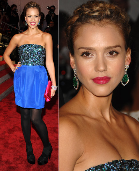 Jessica Alba In Jason Wu Dress At Met Gala 2009