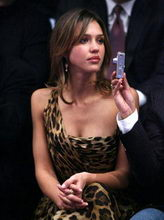 Jessica Alba Leopard print dress
