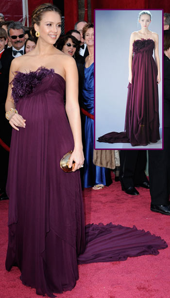 Jessica Alba Marchesa Dress for 2008 Oscar Ceremony