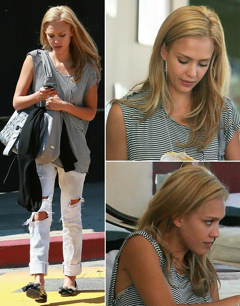 The virtue of hair extensions, Jessica Alba's new haircut looks too