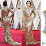 jessica biel 2017 oscars red carpet dress necklace
