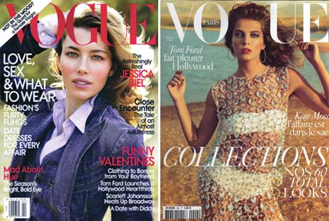 Jessica Biel Daria Werbowy Vogue February 2010 cover