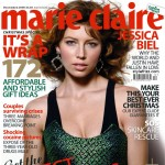 Jessica Biel in Marie Claire UK December 2008 cover large