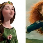 Jessica Chastain looks like Queen Elinor from Brave