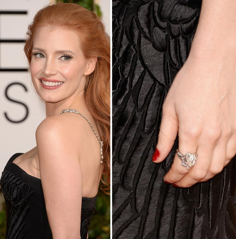 Jessica Chastain nails 2014 Golden Globes