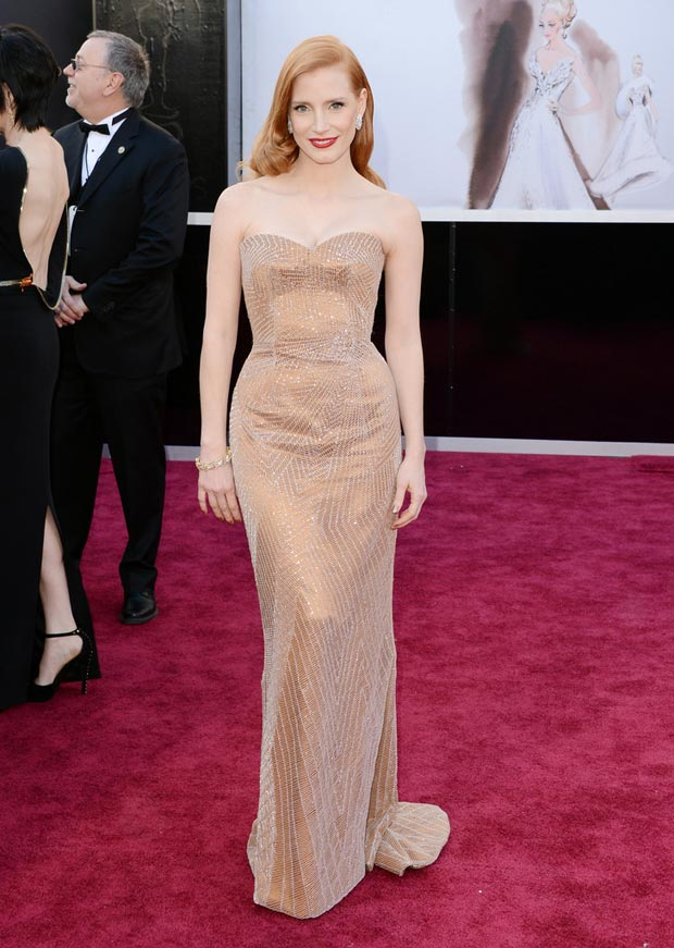 Jessica Chastain Oscars 2013 Armani Prive dress