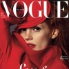 Jessica Chastain s red Vogue Germany January 2013 cover