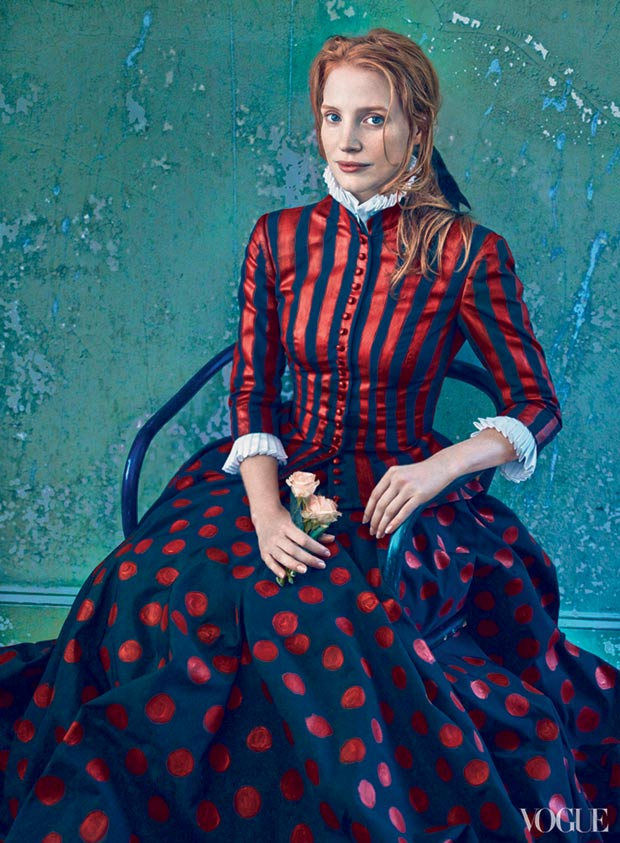 Jessica Chastain Vogue December 2013 McQueen Leibovitz