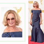 Jessica Lange 2015 Emmy Awards Red Carpet hairdo