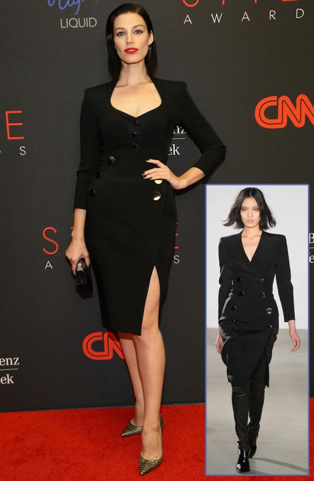 Jessica Pare black dress Altuzzara 2013 Style Awards