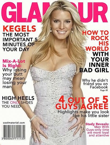 Jessica Simpson Glamour fake cover