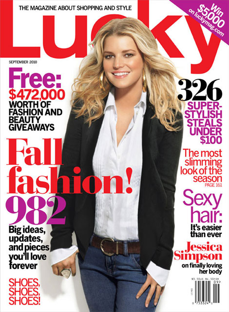 Jessica Simpson Gets Her Lucky Photoshop For September 2010