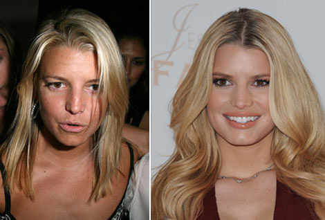 Jessica Simpson without makeup