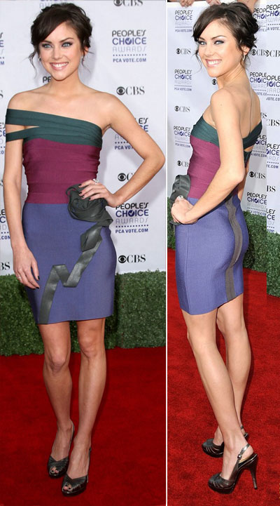 Jessica Stroup People s Choice Awards 2009 Herve Leger dress