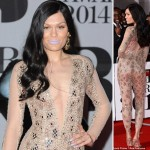 Jessie J fashion disaster lipstick Brit Awards