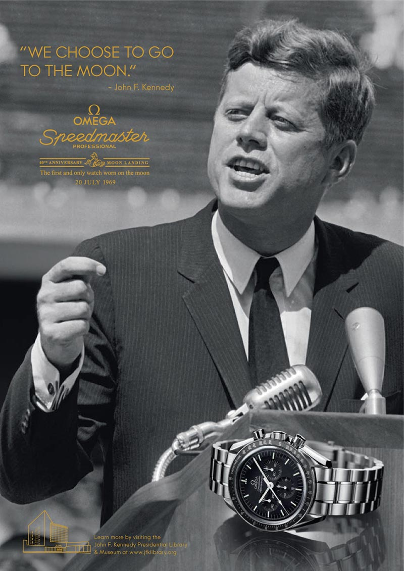 jf kennedy omega speedmaster ad campaign 1
