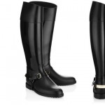 Jimmy Choo black rubber boots