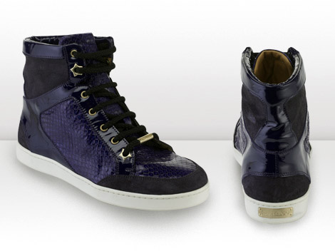 Jimmy Choo Trainers 2010 Collection Purple hitop