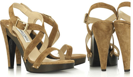 Jimmy Choo wooden platform sandals