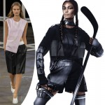 Joan Smalls Alexander Wang HM ad look inspired by his fall 2014 collection