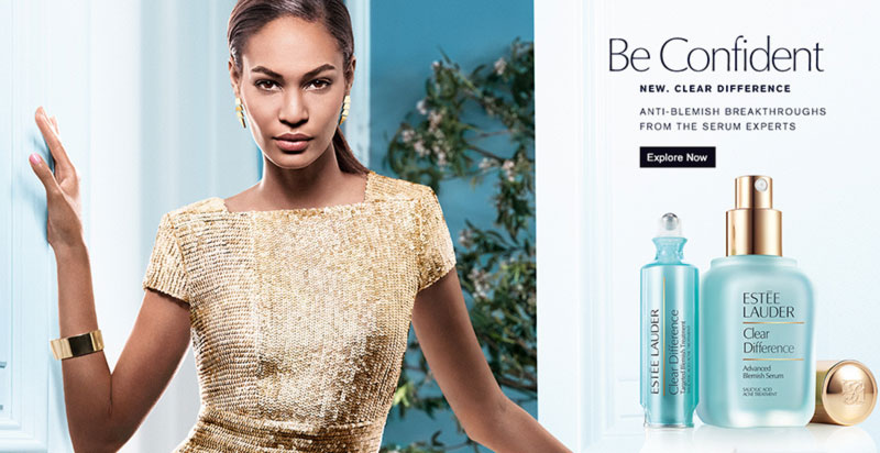 Joan Smalls latest Estee Lauder ad campaign